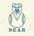 bear graphics for print vector image vector image