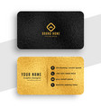 black and gold premium stylish business card vector image vector image