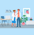 cardiology medicine appointment doctor vector image vector image