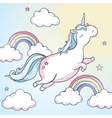 Cartoon magic unicorn vector image vector image