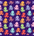 cartoon octopus character vector image