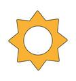 cartoon radiant summer sun vector image