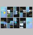 creative social networks stories design vertical vector image