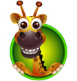 cute giraffe head cartoon vector image vector image