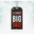Cyber Monday sale Realistic price tag vector image