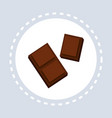 dark chocolate icon unhealthy sweet food concept vector image