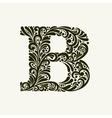 Elegant capital letter B in the style Baroque vector image vector image