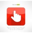 Finger pointer in modern flat design Click button vector image vector image
