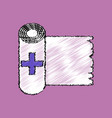 flat shading style icon medicine napkins vector image vector image