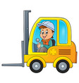 fork lift truck theme image 2 vector image vector image