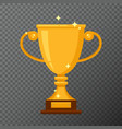 golden cup icon isolated on background vector image