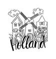 hand drawn symbols of holland vector image vector image