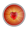 heart symbol round red vector image vector image