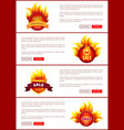 hot sale badges and labels with promo discounts vector image vector image