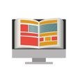 Isolated ebook and computer design vector image vector image