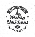 merry christmas and happy new year retro template vector image