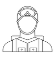 Military paratrooper icon outline style vector image vector image