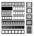 movie tape 35mm photo strip film camera frames vector image