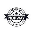norway stamp design vector image vector image