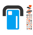 payment terminal icon with love bonus vector image
