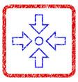 pressure center grunge framed icon vector image vector image