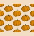 pumpkin pattern on beige background trendy vector image