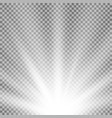 rays of light from below white color vector image