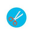 red scissors icon vector image