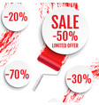 sale banner with colorful stain vector image vector image