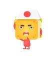 Sandwich Character Fighting Karate vector image
