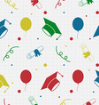 Seamless Graduation Celebration Pattern Background vector image vector image