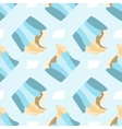 Seamless pattern with hand drawn cupcake vector image vector image