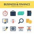 set of flat business chart icons vector image
