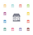 shop flat icons set vector image