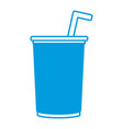 soda cup glass vector image vector image
