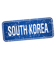South Korea blue stamp isolated on white vector image