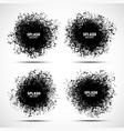 splash ink black spot set background vector image