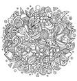 sri lanka hand drawn cartoon doodles vector image