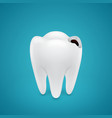 Start teeth caries vector image vector image