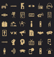 stereo music icons set simple style vector image vector image