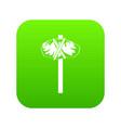 stone hammer icon green vector image