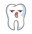 teeth funny character kawaii style vector image vector image