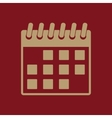 The calendar icon Calendar symbol vector image