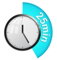 Timer 25 minutes vector image