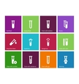 Tube icons on color background vector image