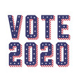 united states america usa elections vote 2020 vector image