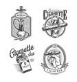 vintage monochrome lounge bar labels vector image vector image