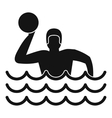 Water polo icon simple style vector image vector image