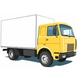 Yellow commercial truck vector image vector image