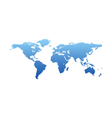 Map of the world - blue silhouette isolated vector image